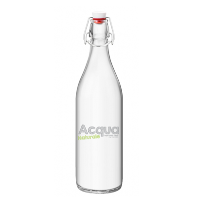 Bottiglia acqua in vetro - modello Giara - Distributori Acqua alla spina per Bar Ristoranti  H2O