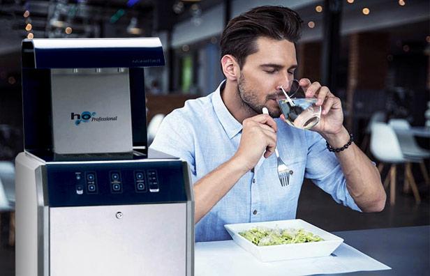 H2O azienda di Roma specializzata in noleggio di impianti d'acqua alla spina per la ristorazione.
