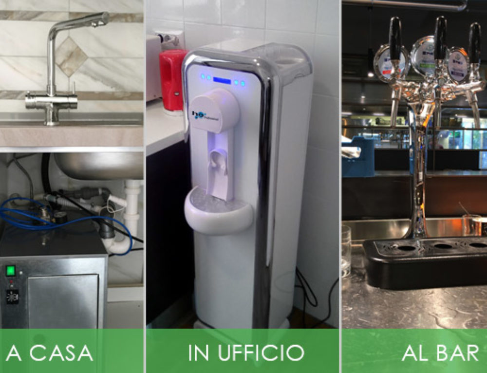 Dispenser acqua soprabanco