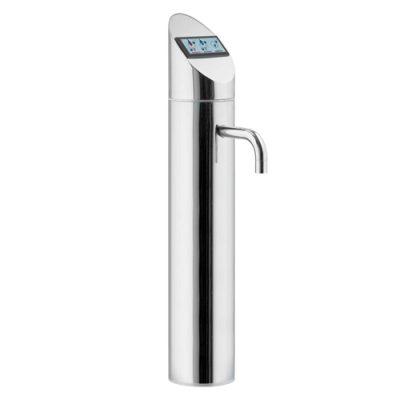 Spillatore acqua per bar in acciaio inox. Spillatura dell'acqua elettronica nel formato bicchiere o bottiglia.